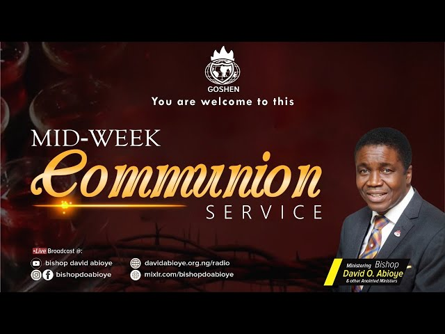 MIDWEEK COMMUNION SERVICE - NOVEMBER 25, 2020