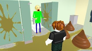 I Found Baldi In The Toilet THEN THIS HAPPENED! (Roblox Animation)
