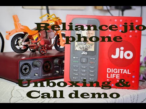 Reliance Jio 4g feature phone call demo and unboxing
