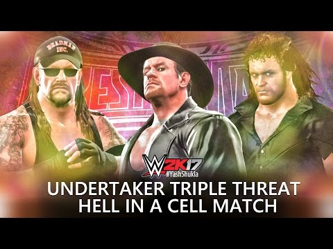 WWE 2K17 Undertaker vs Undertaker '91 vs Undertaker '00 | HELL IN A CELL Triple Threat Match