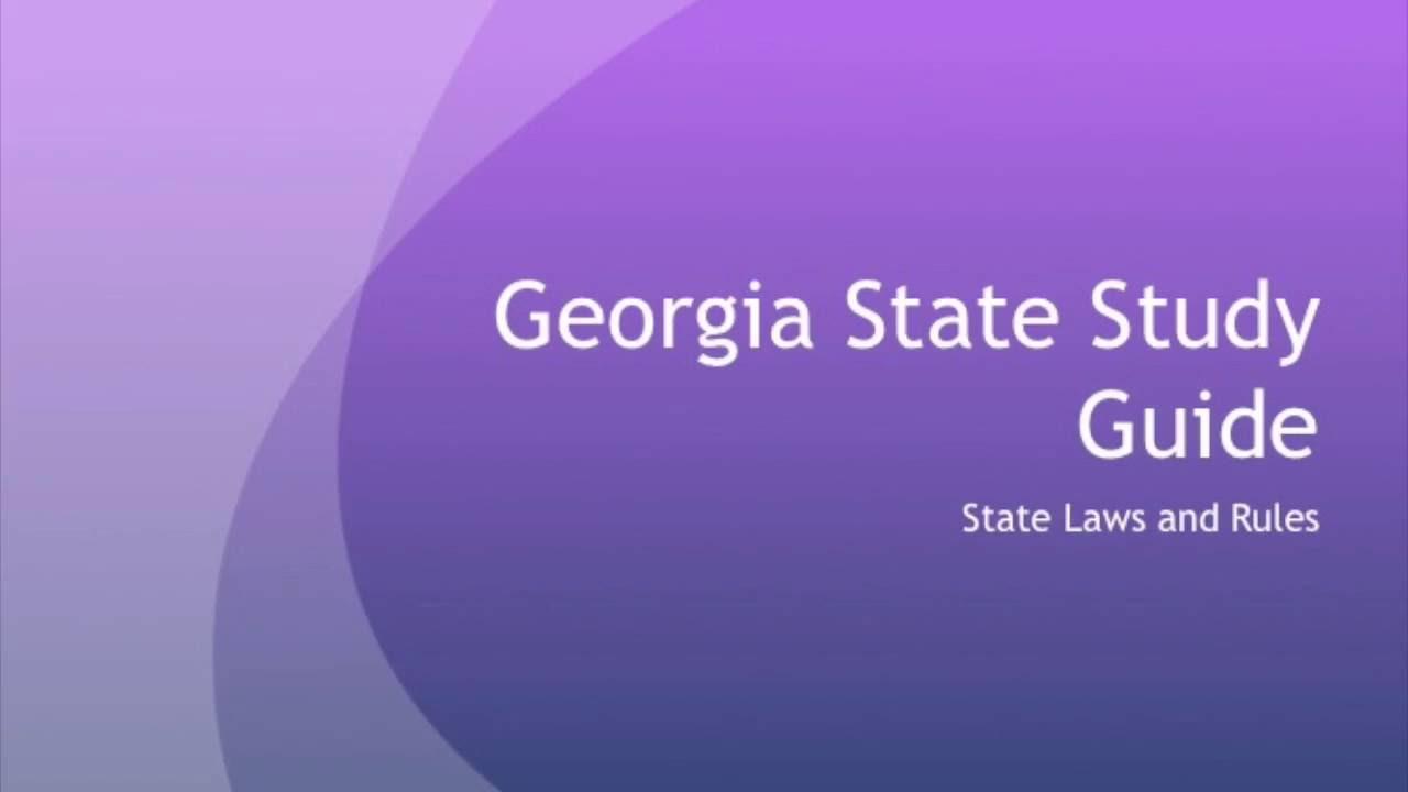 Georgia Real Estate Study Guide 1 - YouTube