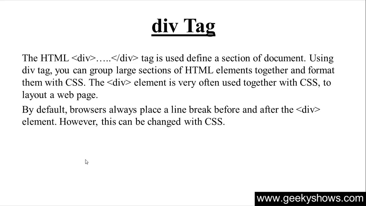 185 div tag in html hindi youtube for Html div