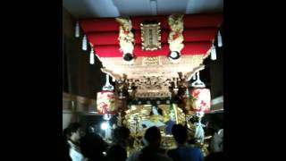 岩岡神社秋祭り 野中 布団太鼓 帰蔵 〆