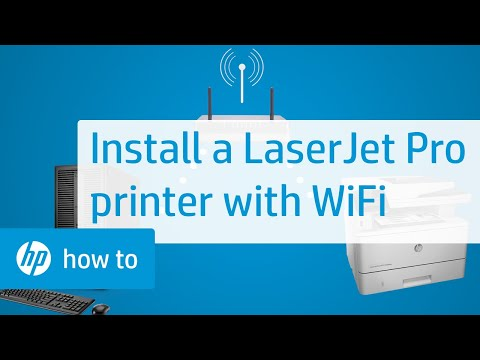 Installing an HP LaserJet Pro Touchscreen Printer with a Wireless Connection | HP LaserJet | HP
