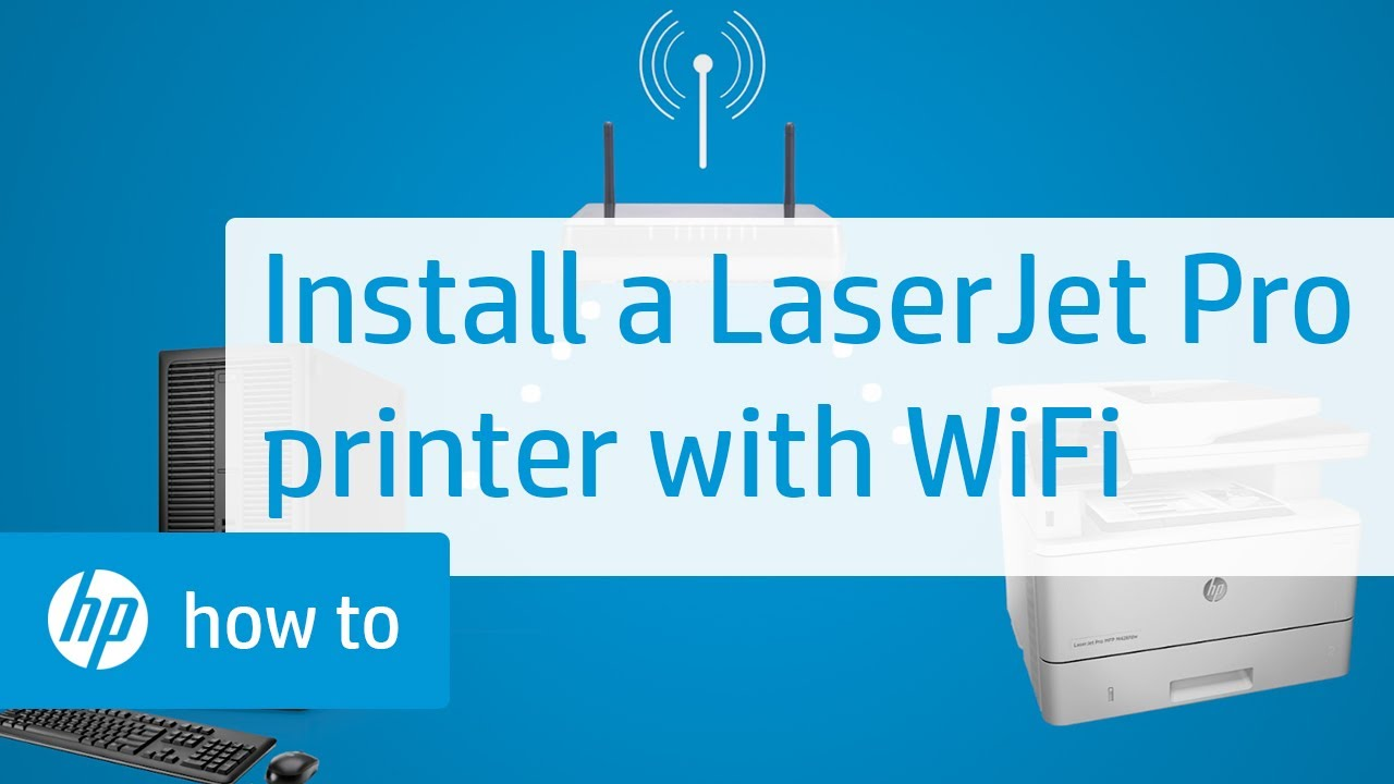 Installing An HP LaserJet Pro Touchscreen Printer With A