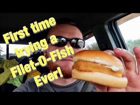 Trying McDonald's Filet-O-Fish For The First Time