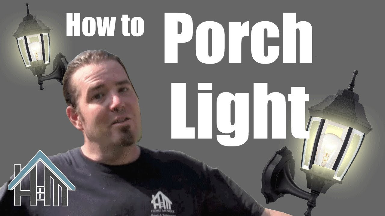 How To Install Replace Exterior Porch Light Lantern Easy Home Wiring A Motion Mender