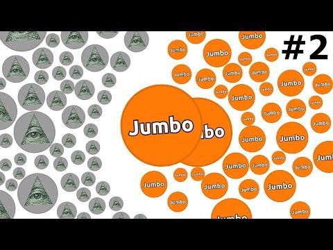 BIGGEST BATTLE IN AGAR.IO HISTORY - ''The Adventures of Jumbo'' #2