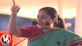 Vijayashanti Powerful Speech In Congress Public Meeting In Shamshabad | Hyderabad | V6 News
