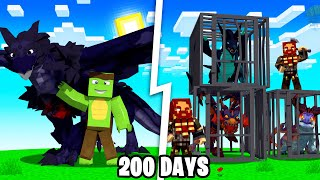 I Spent 200 Days in DRAGONFIRE Minecraft - Here's How It Went...