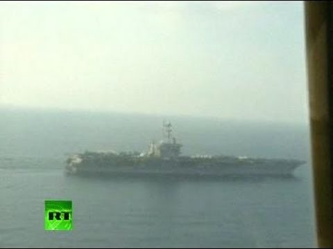 Video of US carrier filmed from Iran plane during drill in Persian Gulf