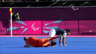Football 7-a-side - NED vs USA - Men's 5-8 Semi-Final - 1st half - London 2012 Paralympic Games.mp4