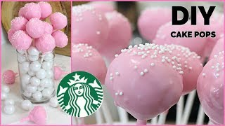 How to Make CAKE POPS  DIY Starbucks Homemade COPYCAT Birthday Cake Pops Recipe