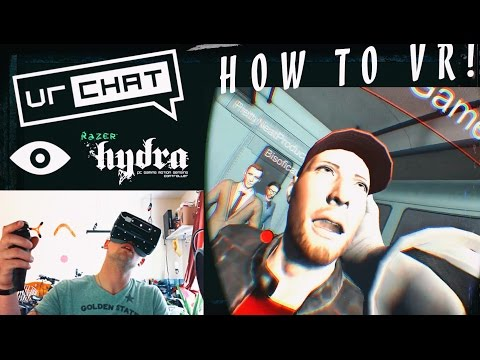 How to activate the RAZER HYDRA in VRCHAT | Riftubers Conference!