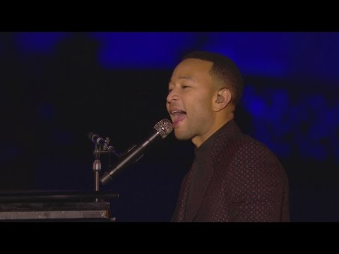 John Legend performs Beauty and the Beast at 25th anniversary of Disneyland Paris
