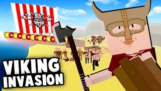 VIKING INVASION On The English BEACHES! Monastery Raid! (Best User Made Maps - Paint The Town Red)