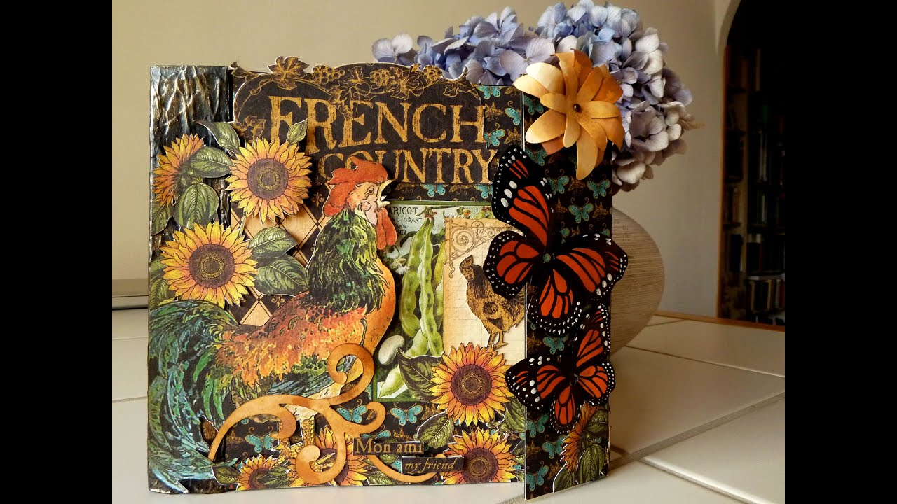 Scrapamundi my first scrapbook minialbum french country for French country collection
