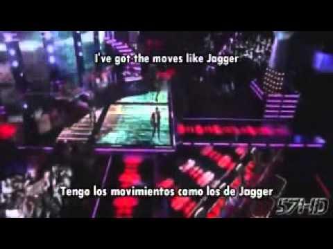 b33f123d974e maroon 5 ft christina aguilera moves like jagger hd subtitulado español  english lyrics