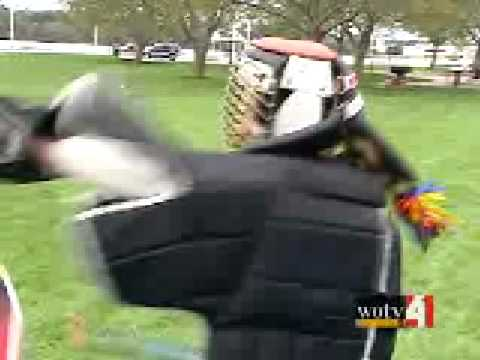 Stickfighter 2006 WOOD TV 8 with Gerry Barnaby Mariah Moore
