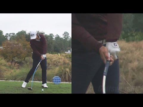 YANI TSENG - HANDS THRU IMPACT (CLOSE UP) POWER DRIVER SWING 2014 CME TIBURON GOLF COURSE 1080p HD