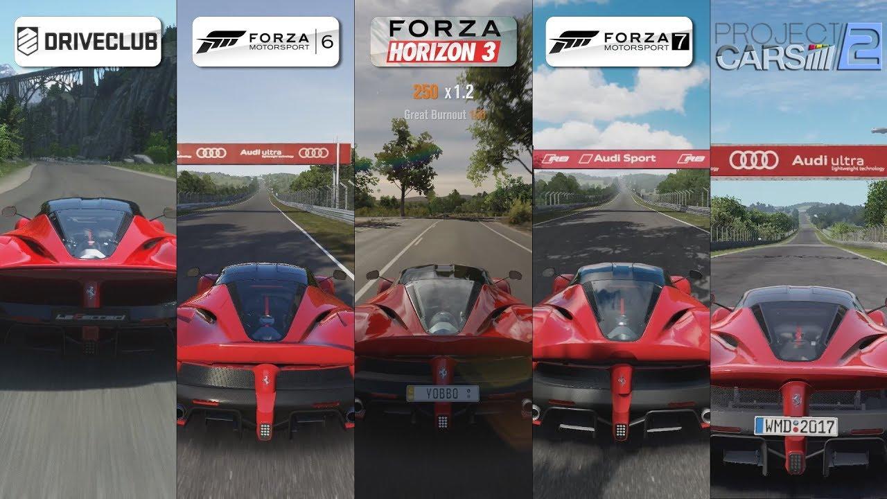 driveclub vs forza 6 vs horizon 3 vs forza 7 vs pcars 2 ferrari laferrari sound comparison. Black Bedroom Furniture Sets. Home Design Ideas