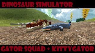 Roblox Dinosaur Simulator - Gator Squad - Killing a Pitch? + Galactic Baro Leak