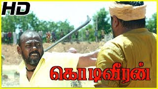 Sasikumar fights with Pasupathy | Kodiveeran Climax Scene | Poorna saves Sasikumar's life