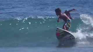 Come on a surf with 5 year old Kai Kai Alcala at his favourite litt...