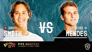 Jordy Smith vs. Jesse Mendes - Round of 32, Heat 13 - Billabong Pipe Masters 2019