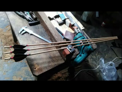 How To Make Wooden Arrow  (shaft & fletching)