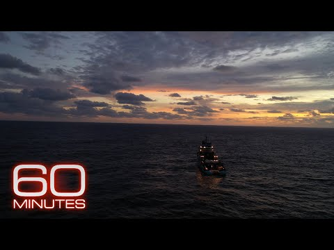 Watch 60 Minutes fight 10-foot swells to board a 300-foot boat in the middle of the ocean