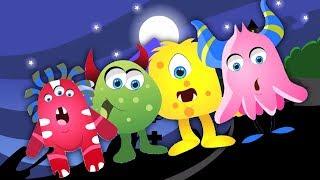Пять маленьких монстров | Питомник рифмы | Детская песня | 3D Childrens Rhyme | Five Little Monsters