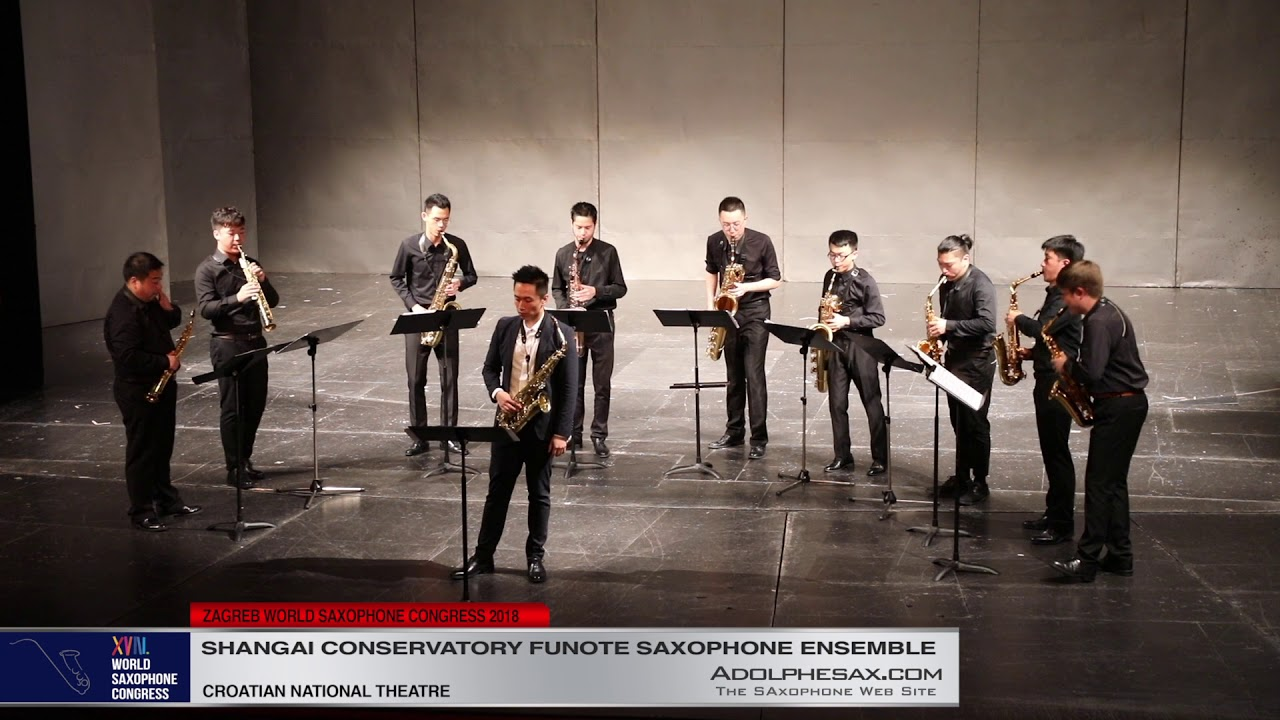 East Cool by Xiaolu Zhang   Shanghai Conservatory Saxophone Ensemble   XVIII World Sax Congress 2018