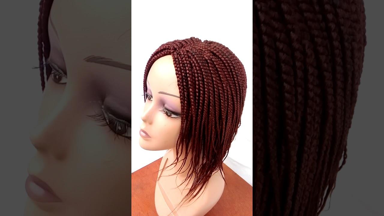 box-braid wig short feathers style