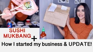 HOW I WENT FROM JOBLESS TO BEING MY OWN BOSS! (SUSHI MUKBANG)