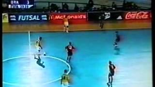 CALCIO MONDIALI INDOOR 2000 FINALE SPAGNA BRASILE 4 3