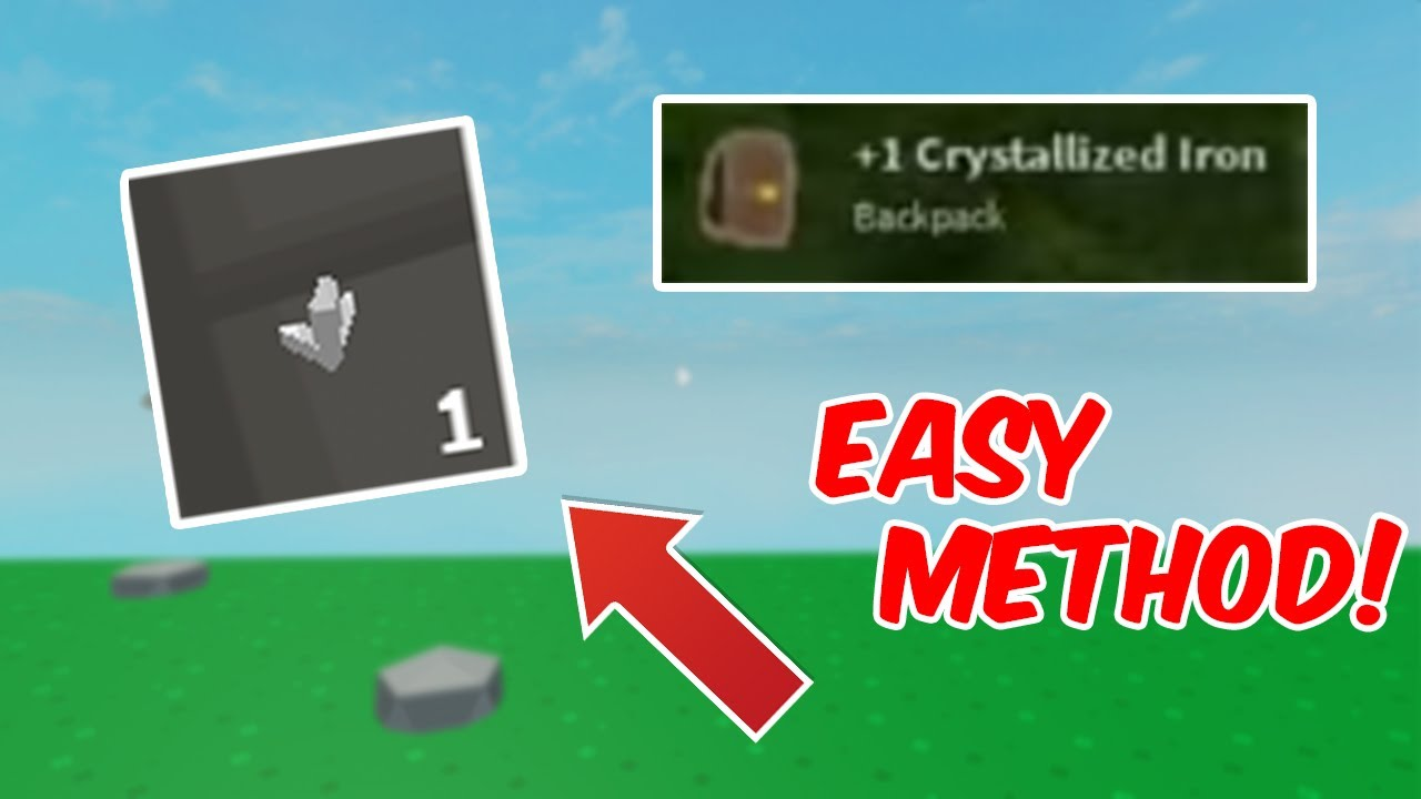 Get Crystalized Iron With This Easy Fast Method Roblox Skyblock