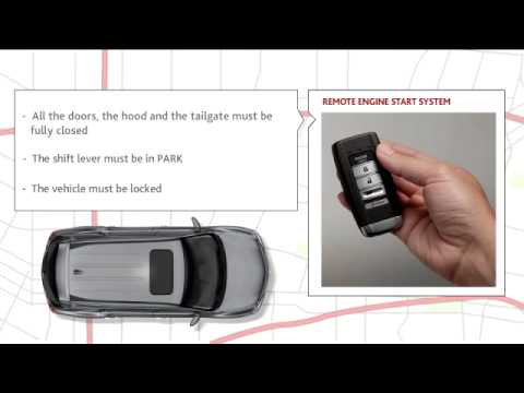 Remote Engine Start With Vehicle Feedback Acura MDX YouTube - Acura rdx remote start