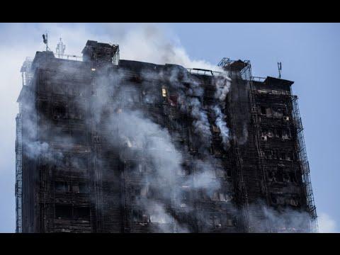 Terrifying fire engulfs Azerbaijan apartment block