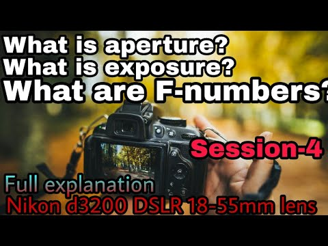 F-numbers, aperture and exposure full explanation