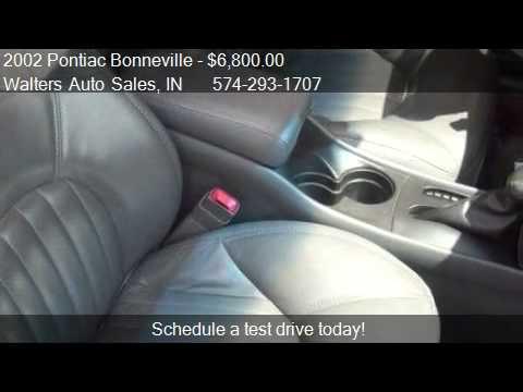 Walters Auto Sales >> 2002 Pontiac Bonneville Ssei For Sale In Elkhart In 46517