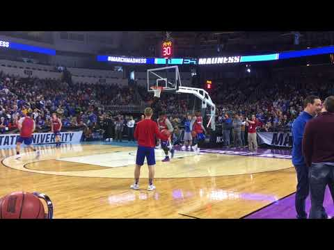 Highlights from KU's open practice at the NCAA Tournament