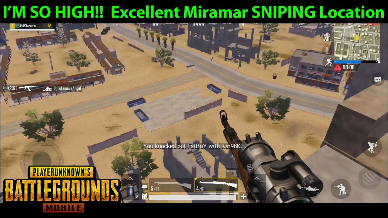 I'M SO HIGH!!! Tallest Building on Miramar = EXCELLENT SNIPING SPOT | PUBG  Mobile Lightspeed