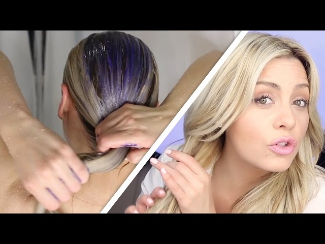 How To Do The Perfect Toning Shampoo Treatment On Blonde Hair Youtube