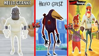 EN KORKUNÇ WİLSON DAYI KAPIŞMASI 😱 Hello Neighbor Granny vs Hello Guest vs Secret Neighbor