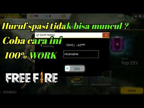 Cara Menambah Kan Huruf Spasi Di Nama Ff Free Fire Indonesia