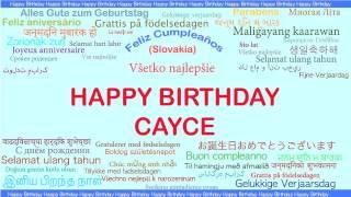 Cayce   Languages Idiomas - Happy Birthday
