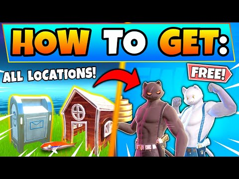 Fortnite DROP BOXES DELIVER FISH To SHADOW/GHOST! Meowscles Mischief Challenges Guide: Battle Royale