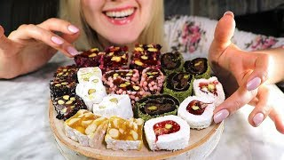 Tasty Turkish Desserts 🍮 Gentle Eating ASMR ○ White Noise ○ Whisper