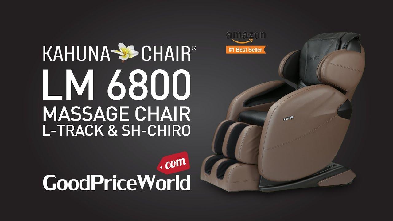 L Track Kahuna Massage Chair Lm 6800 Youtube